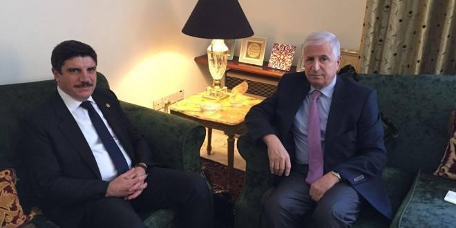 ارشيدات يتستقبل نائب الامين العام لحزب العدالة والتنمية التركي