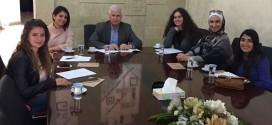 الدكتور صالح ارشيدات الامين العام للحزب التقى في مقر الحزب بمجموعة من طلبة كلية الاميرة سمية الجامعية
